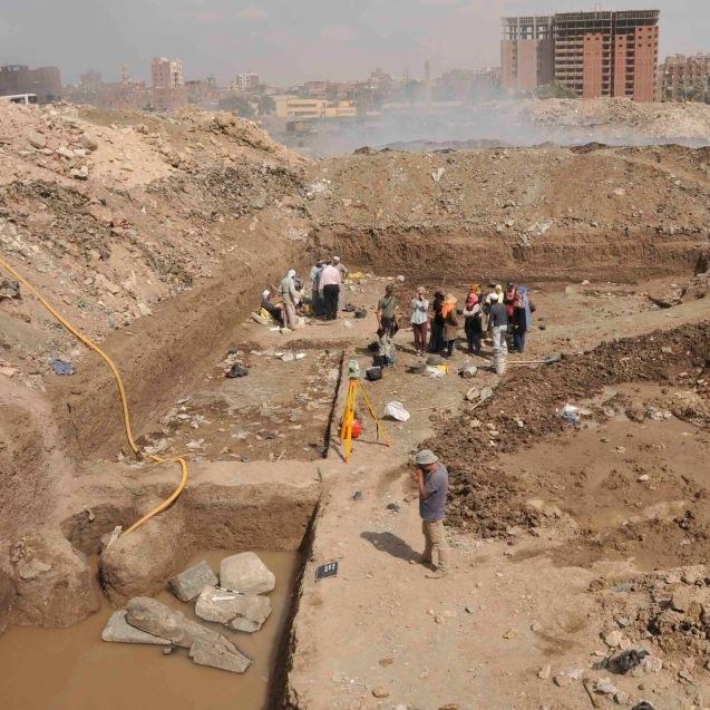 Grabungsgelände Heliopolis 2015. Foto: Dietrich Raue