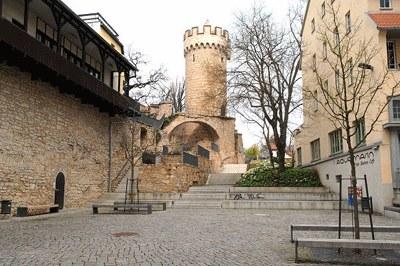 Haus auf der Mauer, Foto: Uni Jena