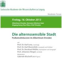 Akademie-Forum in Dresden: Die alternssensible Stadt – Freitag, 18. Oktober 2013
