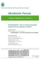 Akademie-Forum zum Thema Nachhaltigkeit – Freitag, 19.10.2012
