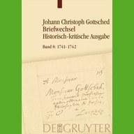Aktuell erschienen: Band 8 des Gottsched-Briefwechsels