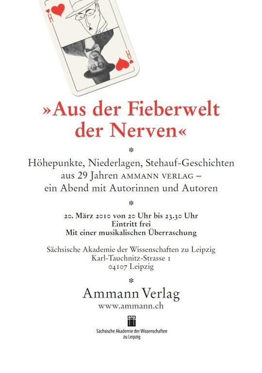 Ammann-Verlag »Aus der Fieberwelt der Nerven«