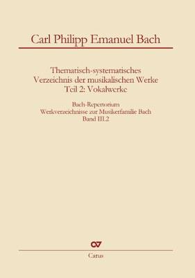 CPE Bach Werkverzeichnis Vokalwerk