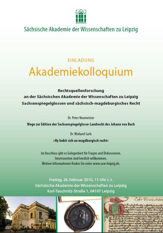Einladung Akademiekolloquium 26.2.2010
