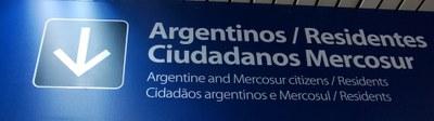 Einreiseschild Buenos Aires
