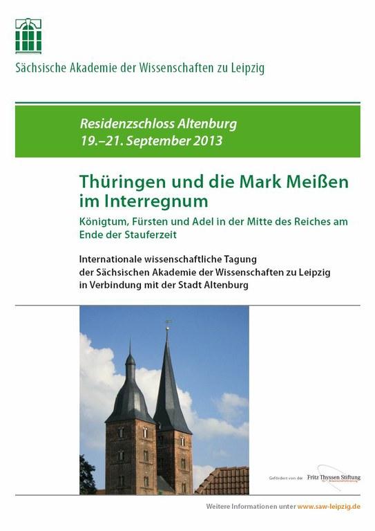 Plakat Tagung Altenburg 19.-21.9.