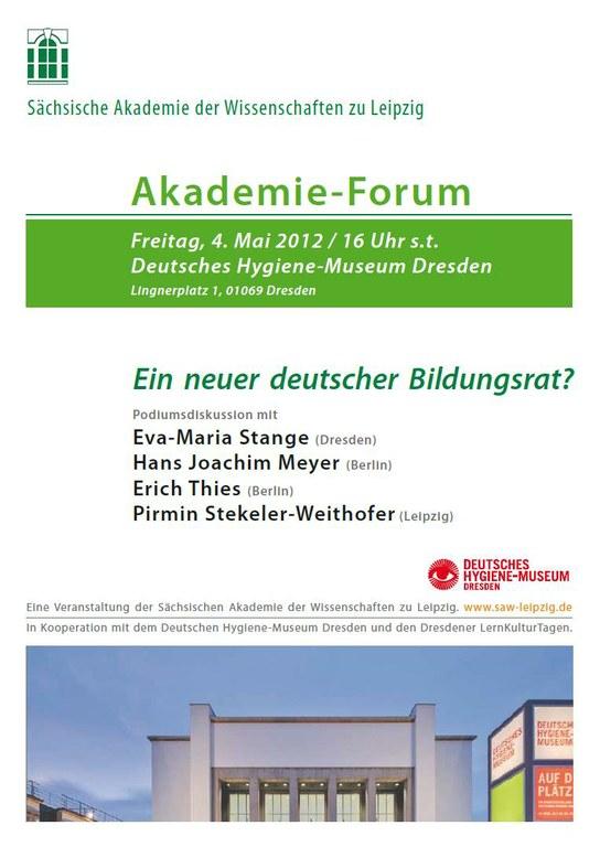 Akademie-Forum am 4.5.2012