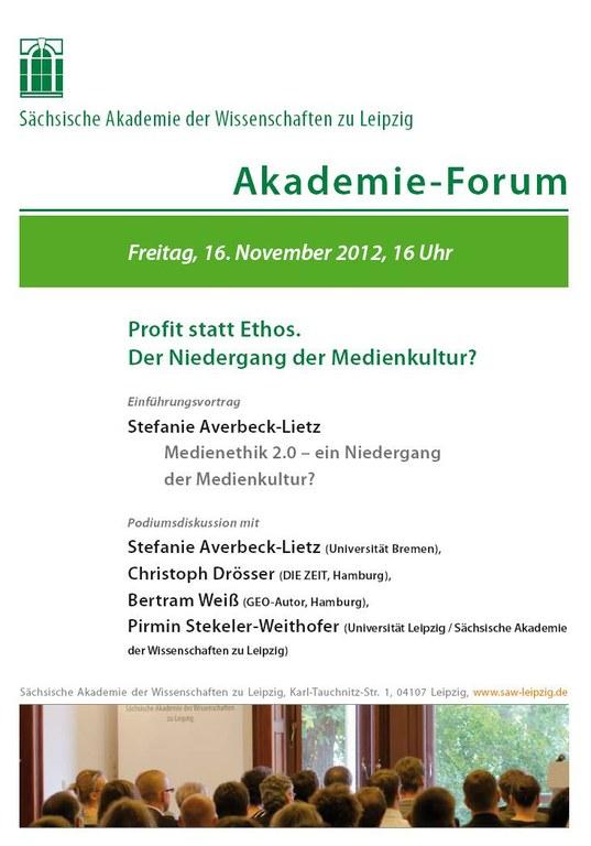 Akademie-Forum November 2012