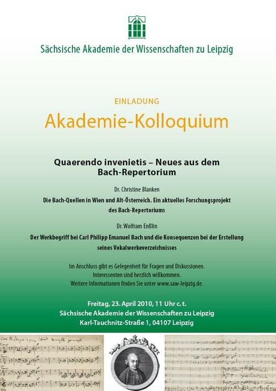 Akademie-Kolloquium 23.4.2010