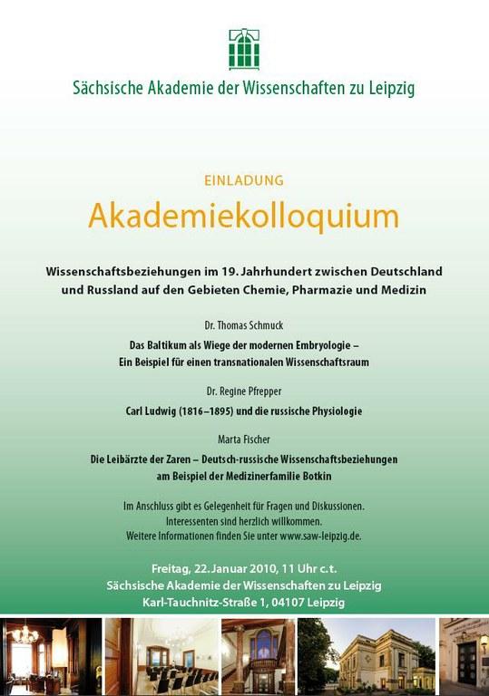 Akademiekolloquium 22.1.2010