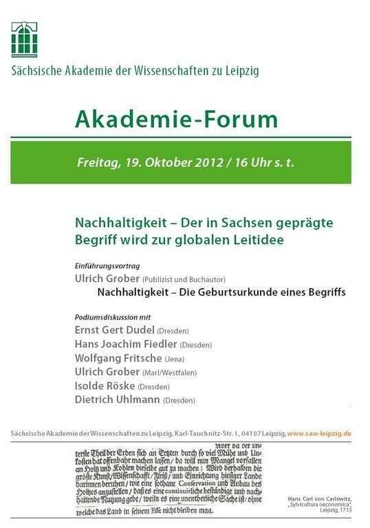 Akademie-Forum am 19.10.2012