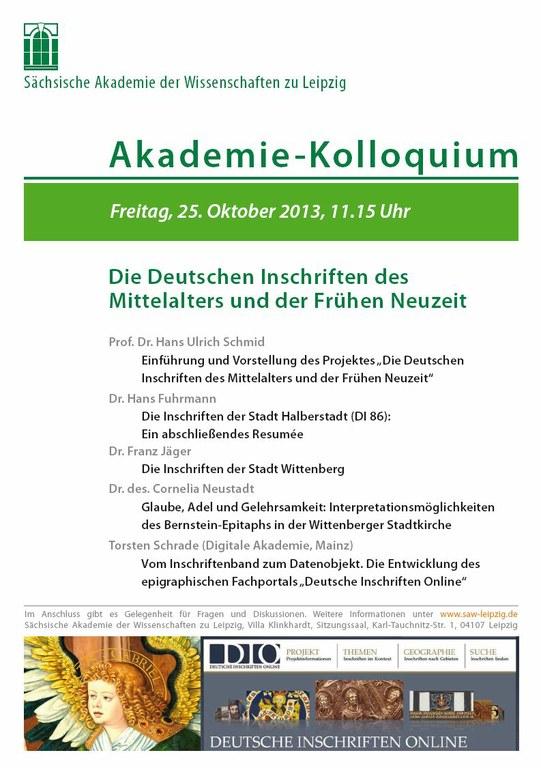 Einladung Akademie-Kolloquium 25.10.2013