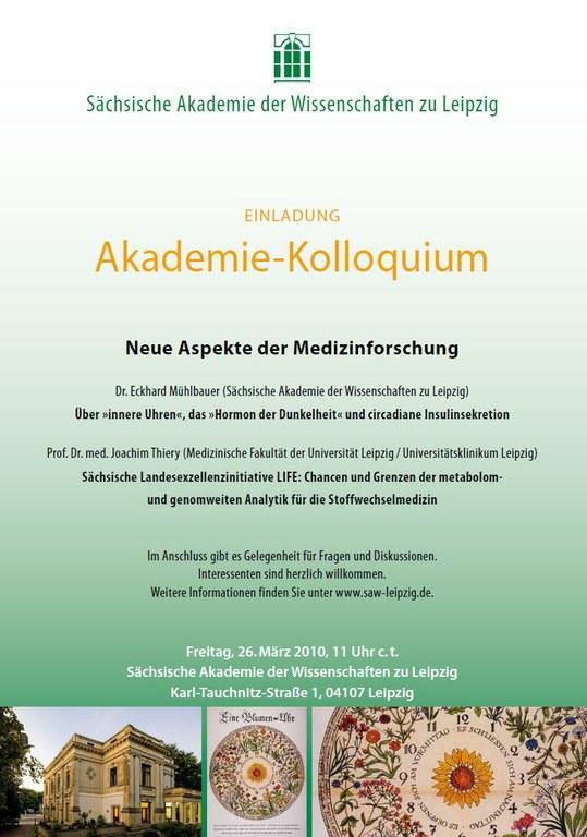 Einladung Akademie-Kolloquium 26.3.2010