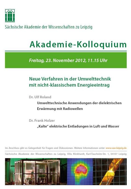 Einladung Akademie-Kolloquium 23.11.2012
