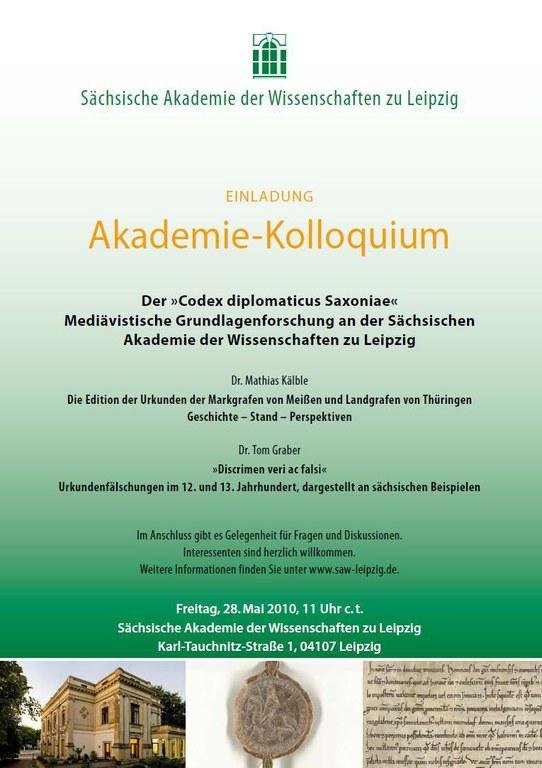 Einladung Akademie-Kollquium 28.5.2010