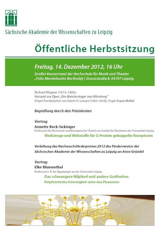 Einladung Herbstsitzung 2012