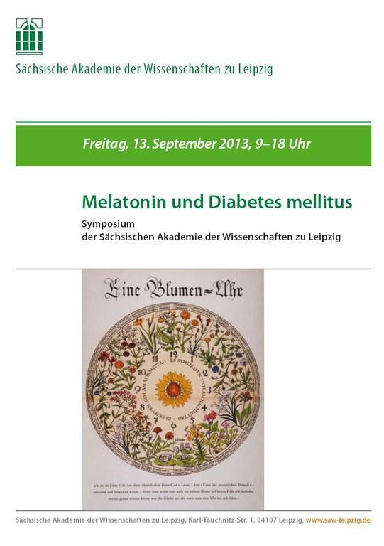 Melatonin und Diabetes mellitus Plakat