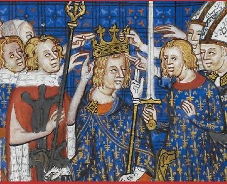 Krönungsbuch Karls V. von Frankreich © The British Library Board (Cotton MS Tiberius B VIII/2, f. 59v)