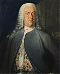 Johann Christoph Gottsched, Gemälde von L. Schorer 1744