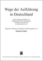 Neuerscheinung: Wege der Aufklärung in Deutschland