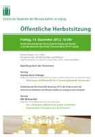 Öffentliche Herbstsitzung