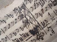 Ausschnitt Autograph von Georg Anton Benda (3,7 MB)