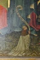Liebfrauen, Altarretabel Barbarakapelle, Detail Stifter