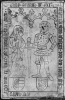 Halberstadt, Liebfrauen, Grabplatte von den Roden