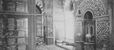 Manuscript cabinet in a library, Damascus 19th century. © Max Freiherr von Oppenheim Foundation / House Archive Bankhaus Oppenheim, Cologne