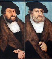 Johann der Beständige (1468–1532) und Friedrich der Weise (1463–1525), L. Cranach [Teilansicht] – Germanisches Nationalmuseum
