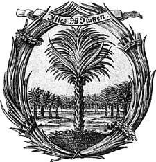 """Palmen-Vignette der """"Fruchtbringenden Gesellschaft"""" von 1651"""