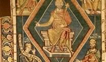Karls- oder Philosophenteppich, 2. Viertel 13. Jh., Halberstadt, Domschatz, Inv.-Nr. 520