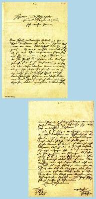 Brief Gottscheds an Samuel Wilhelm Oetter