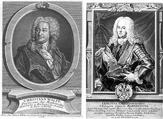 Christian Wolff (1679–1754) und Ernst Christoph Graf von Manteuffel (1676–1749)