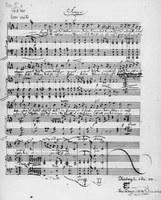 Autograph eines Liedes von Felix Mendelssohn Bartholdy. Unveröffentlichte Version von op. 9 Nr. 2 Universitätsbibliothek Leipzig, Handschriftenabteilung; Sign. Rep. IX, 3