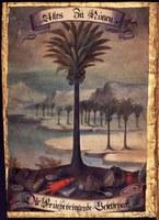 Gemälde der Palmenimprese der Fruchtbringenden Gesellschaft (ThHStA Weimar: Urkunde 1651 Januar 8)