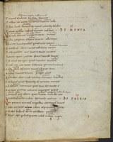 """Handschrift aus dem 10. Jahrhundert mit Beleg für das deutsche Wort """"Minze"""" in der ahd. Form """"minzzun"""", Universitätsbibliothek Leipzig"""