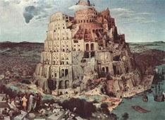 Pieter Bruegel der Ältere: Der Turmbau zu Babel, 1563. Kunsthistorisches Museum Wien